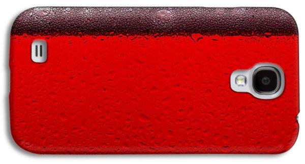 Red Sparkling Wine Galaxy S4 Case by Steve Gadomski