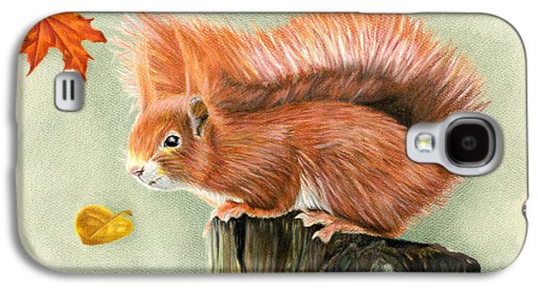 Red Squirrel In Autumn Galaxy S4 Case by Sarah Batalka