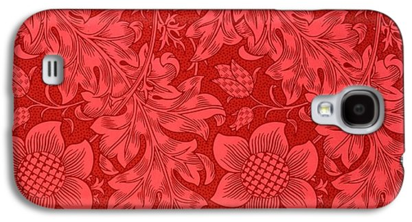 Sunflower Galaxy S4 Case - Red Sunflower Wallpaper Design, 1879 by William Morris