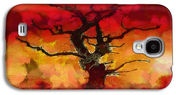 Red Tree Of Life Galaxy S4 Case by Pixel Chimp