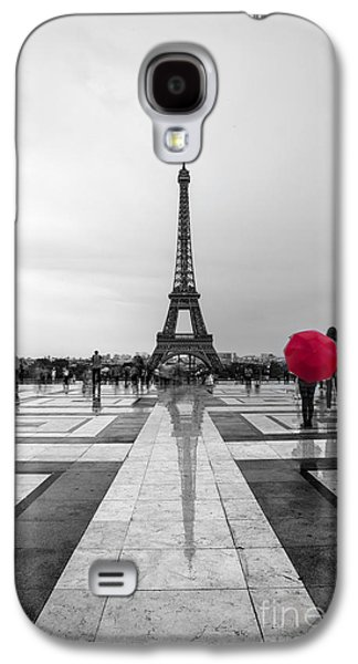 Paris Galaxy S4 Case - Red Umbrella by Timothy Johnson
