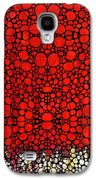 Red Valley - Abstract Landscape Stone Rock'd Art Galaxy S4 Case by Sharon Cummings