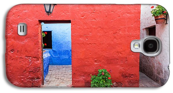 Red White And Blue Colonial Architecture Galaxy S4 Case by Jess Kraft