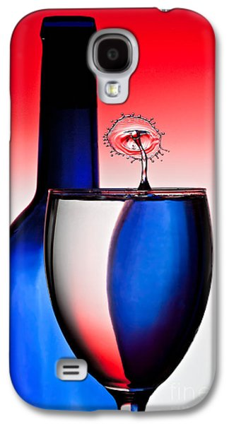 Wine Reflection Art Galaxy S4 Cases - Red White and Blue Reflections and Refractions Galaxy S4 Case by Susan Candelario