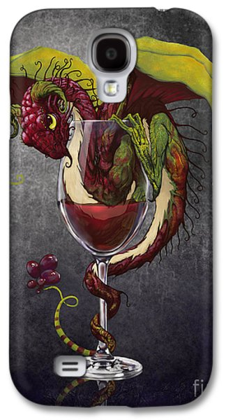 Dragon Galaxy S4 Case - Red Wine Dragon by Stanley Morrison