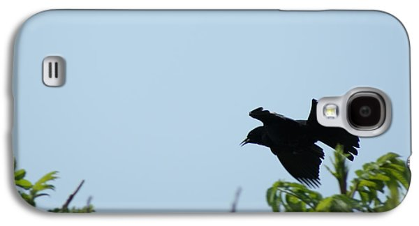 Red Winged Blackbird In Taking Off Galaxy S4 Case