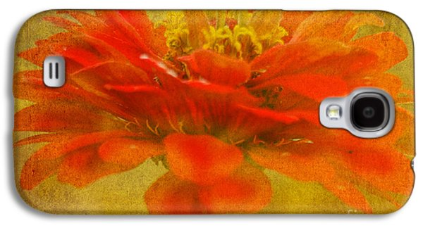 Red Zinnia Essence Galaxy S4 Case by Carol F Austin
