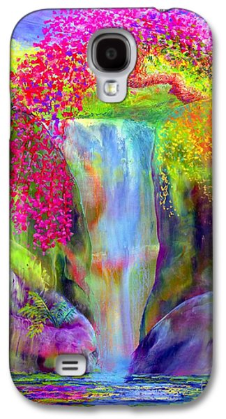 Waterfall And White Peacock, Redbud Falls Galaxy S4 Case
