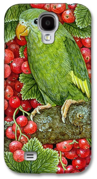Redcurrant Parakeet Galaxy S4 Case