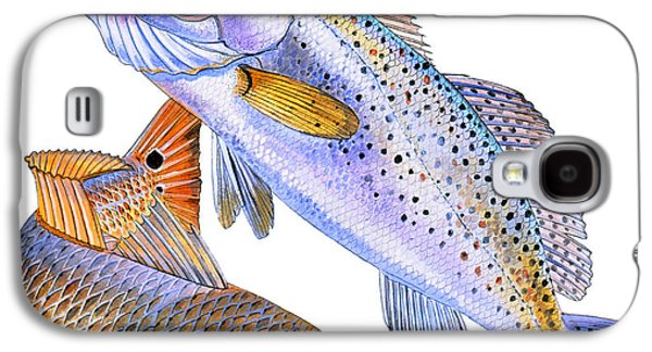 Drum Galaxy S4 Case - Redfish Trout by Carey Chen