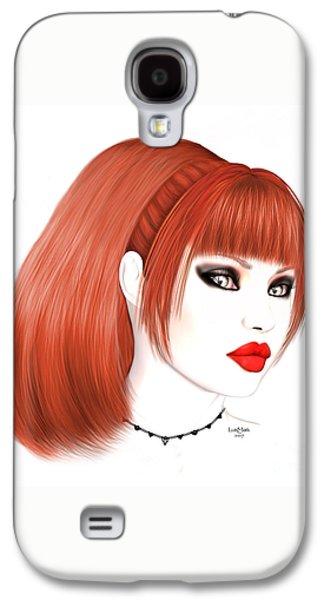 Redhead Cassia Galaxy S4 Case by Renate Janssen