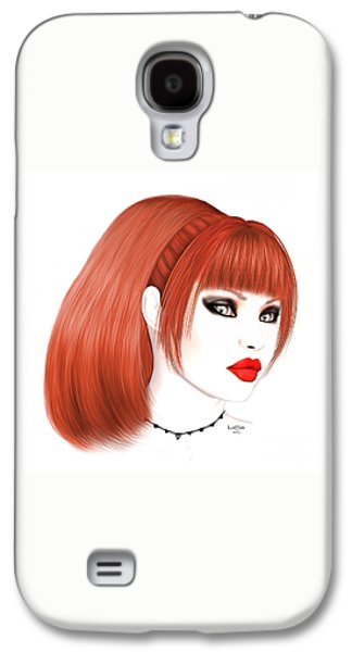 Redhead Cassia Galaxy S4 Case by Renate Janssen