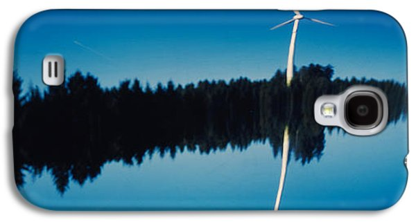 Reflection Of A Wind Turbine And Trees Galaxy S4 Case by Panoramic Images