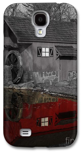 Reflection Of Red Mill Galaxy S4 Case by Bill Woodstock