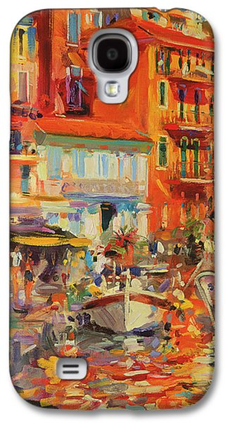 Reflections - Villefranche Galaxy S4 Case by Peter Graham