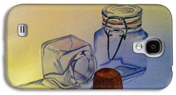Reflective Still Life Jars Galaxy S4 Case by Brenda Brown
