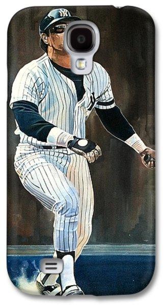 Reggie Jackson New York Yankees Galaxy S4 Case by Michael  Pattison