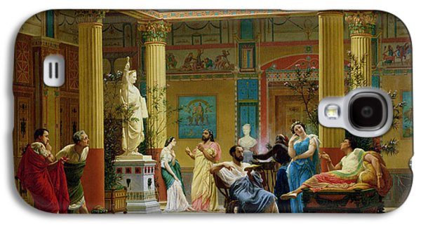Rehearsal Of The Fluteplayer And The Diomedes Wife In The Atrium Of The Pompeian House Of Prince Galaxy S4 Case by Gustave Clarence Rodolphe Boulanger