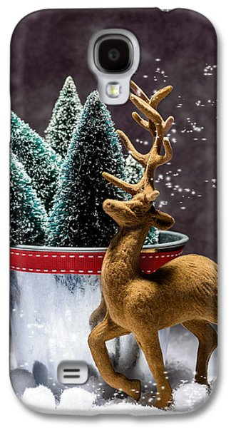 Reindeer At Christmas Galaxy S4 Case by Amanda Elwell