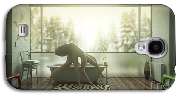 Relaxing Octopus...  Galaxy S4 Case by Pixel Chimp