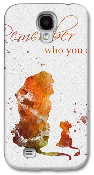 Remember Who You Are Galaxy S4 Case by Rebecca Jenkins