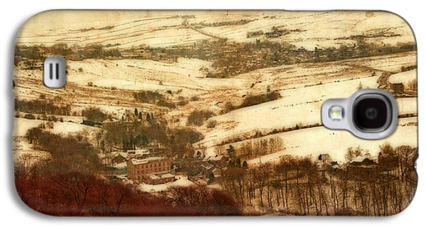 Remote Farmland On The Snow Covered Yorkshire Moors Galaxy S4 Case