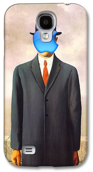 Rene Magritte Son Of Man Apple Computer Logo Galaxy S4 Case by Tony Rubino