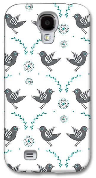 Lovebird Galaxy S4 Case - Repeat Lovebird by Susan Claire