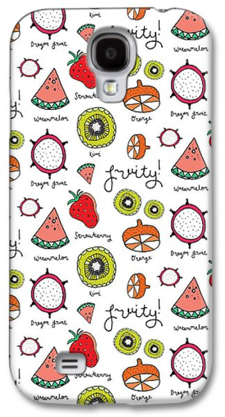 Repeat Print - Fruits Galaxy S4 Case by Susan Claire