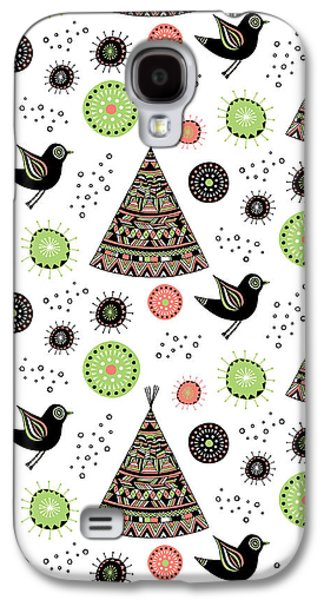 Repeat Print - Wild Night Galaxy S4 Case