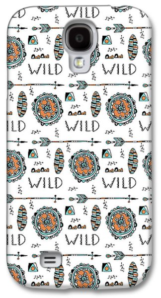 Repeat Print - Wild Galaxy S4 Case