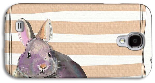 Orange Galaxy S4 Case - Rescued Bunny by Cathy Walters