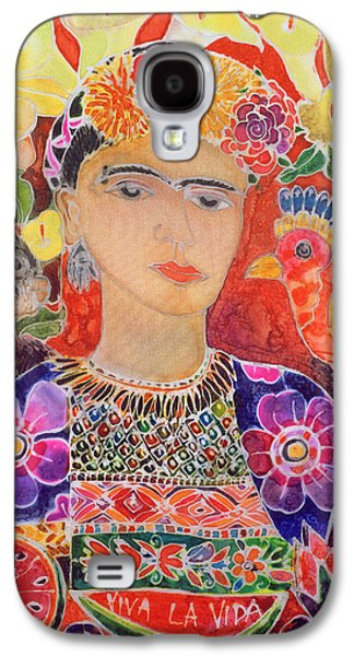 Respects To Frida Kahlo, 2002 Coloured Ink On Silk Galaxy S4 Case by Hilary Simon