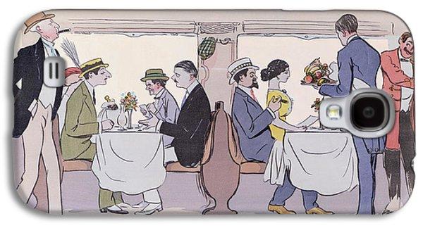 Restaurant Car In The Paris To Nice Train Galaxy S4 Case