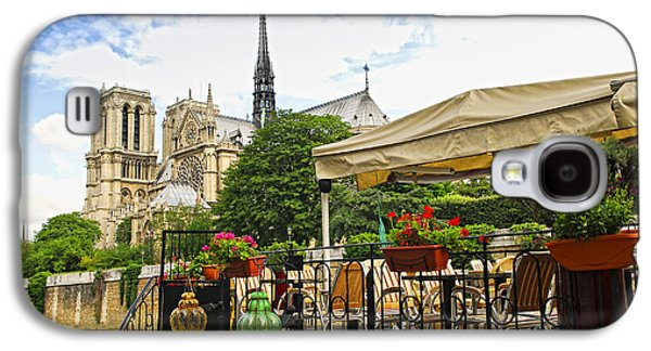 Restaurant On Seine Galaxy S4 Case by Elena Elisseeva