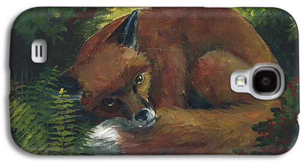 Resting Red Fox Galaxy S4 Case by Linda L Martin
