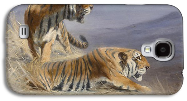 Resting Tigers Galaxy S4 Case by Lilian Cheviot