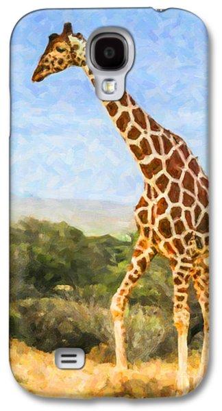 Reticulated Giraffe Kenya Galaxy S4 Case by Liz Leyden