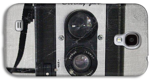 Retro Camera Galaxy S4 Case by Linda Woods