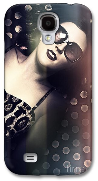 Retro Summer Pin-up Girl With Short Hairstyle Galaxy S4 Case