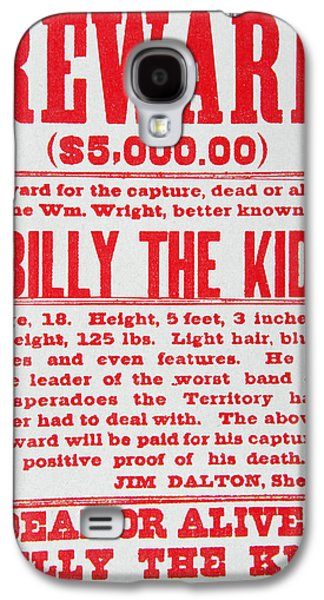 Reward Poster For Billy The Kid Galaxy S4 Case by American School