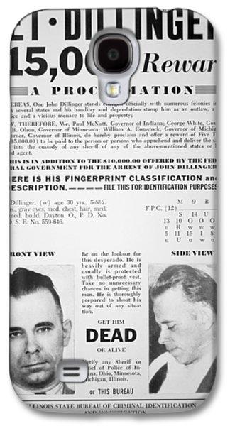 Reward Poster For John Dillinger Galaxy S4 Case by American School