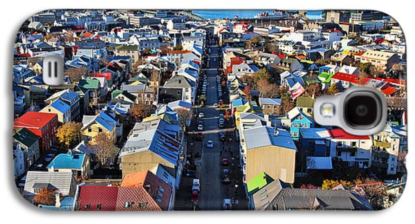 Reykjavik Cityscape Panorama Galaxy S4 Case by Jasna Buncic