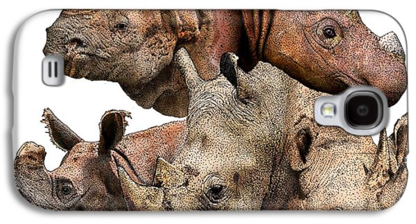 Rhino Collage Galaxy S4 Case by Roger Hall