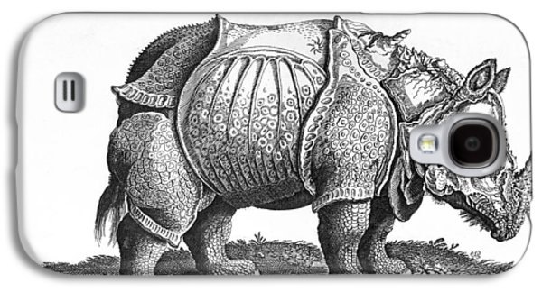 Rhinoceros No 76 From Historia Animalium By Conrad Gesner  Galaxy S4 Case