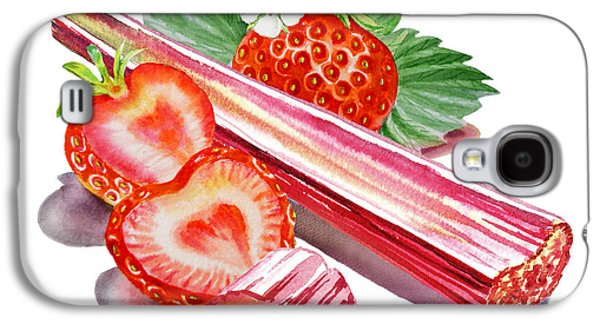 Galaxy S4 Case featuring the painting Rhubarb Strawberry by Irina Sztukowski