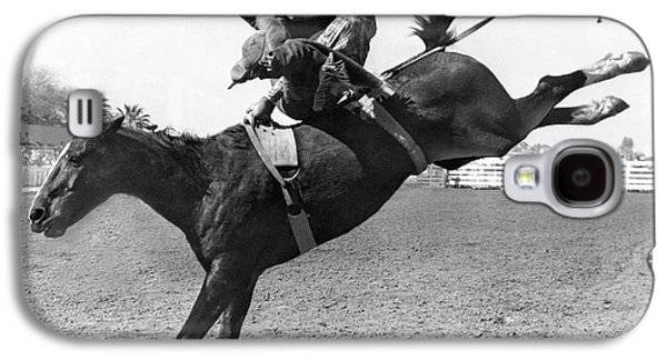 Riding A Bucking Bronco Galaxy S4 Case by Underwood Archives