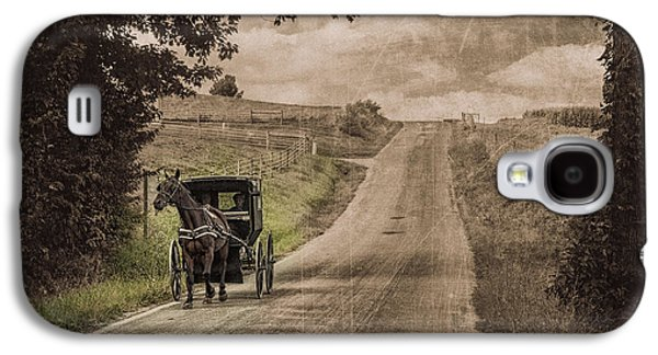 Riding Down A Country Road Galaxy S4 Case by Tom Mc Nemar