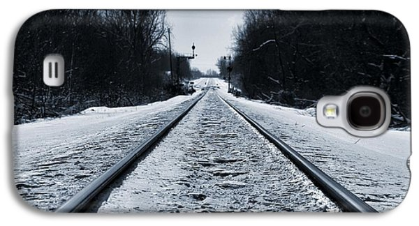 Riding The Rails In Winter Galaxy S4 Case by Dan Sproul