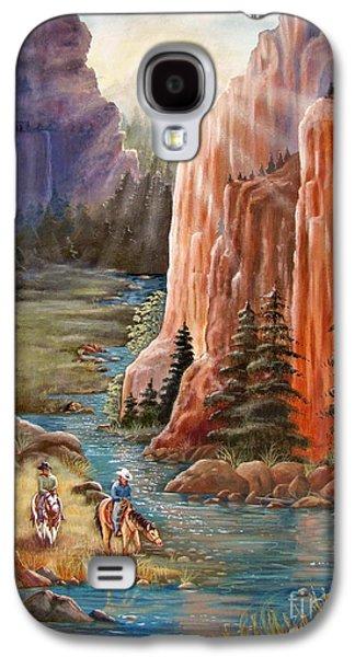 Rim Canyon Ride Galaxy S4 Case by Marilyn Smith